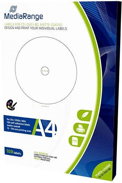 952bb651b56b MediaRange CD DVD Blu-ray etikety 15mm - 118mm biele - Samolepka ...