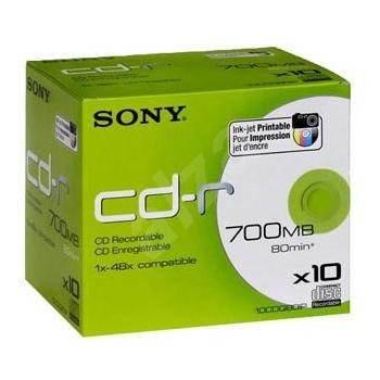 Sony CD-R Printable 10ks v krabičce - Média