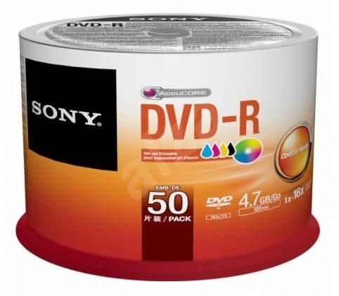 Sony DVD-R Printable 50ks cakebox - Média