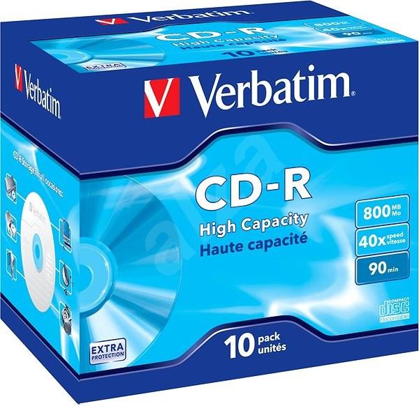 Verbatim CD-R DataLife Protection 40x, 10 ks v krabičke - Médium