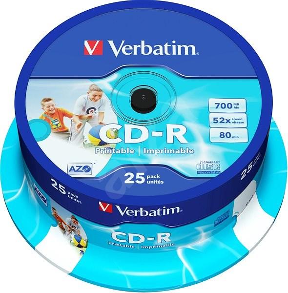 Verbatim CD-R DataLife Protection 52x Printable 25 ks cakebox - Médium