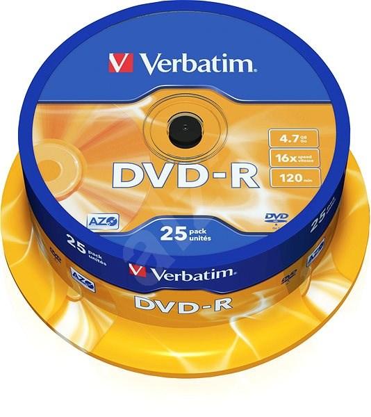 Verbatim DVD-R 16x, 25 ks cakebox - Médium