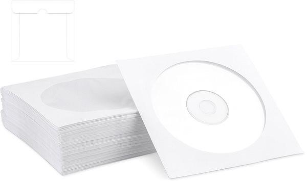 COVER IT papierová pošetka, balenie 100 ks - Obal na CD/DVD
