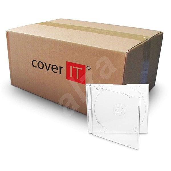 Krabička slim pre 1 ks - číra (transparent), 5,2 mm - Obal na CD