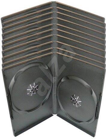 Krabička na 2ks - černá, 14mm, 10pack - Obal na DVD