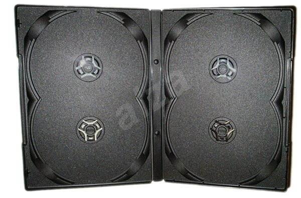 Škatuľka na 4 ks - čierna, 14 mm, 10 kusov - Obal na DVD