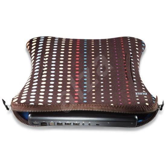 """BUILT Laptop Sleeve 17"""" puntíky - Puzdro na notebook"""