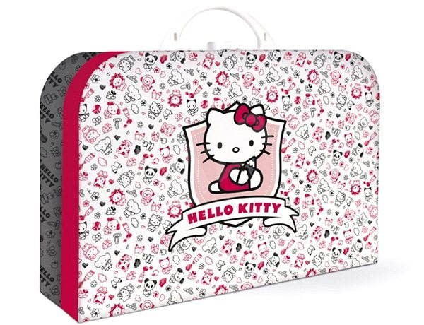 b83546e8b9aad PLUS Hello Kitty Kids II. Limited edition Pink & Grey - Detský kufrík -
