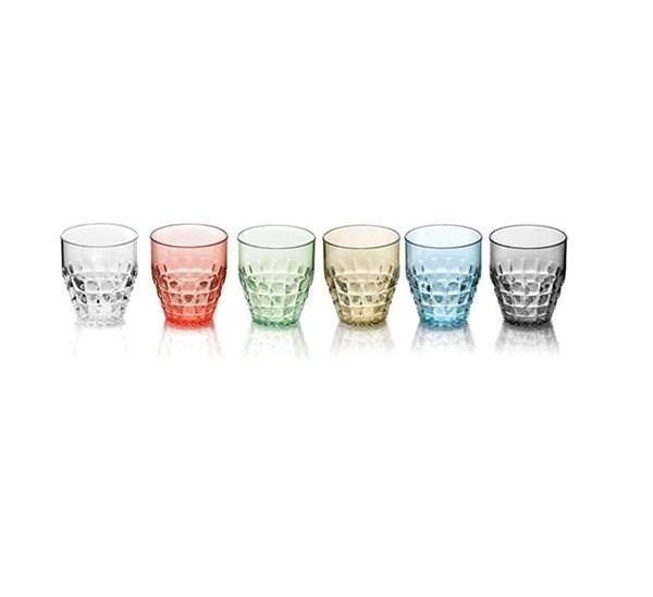 Guzzini Súprava plastových pohárov 6 ks ??TIFFANY 350 ml, mix farieb - Poháre na studené nápoje