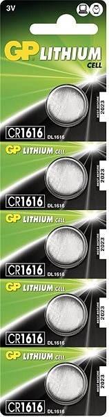 GP CR1616 5 ks - Gombíkové batérie