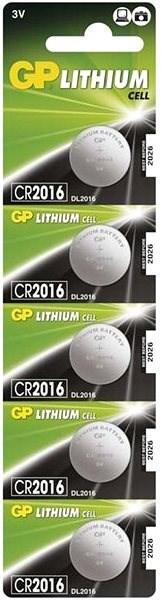 GP CR2016 lithiová 5ks v blistru - Gombíkové batérie