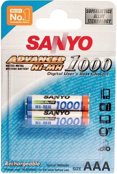 SANYO AAA mikrotužkové NiMH 1000mAh 2 ks - Nabíjateľná batéria