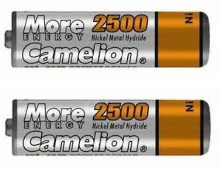 Camelion AA tužkové NiMH 2500mAh 2 ks - Nabíjecí baterie