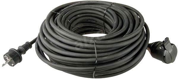 Emos Predlžovací kábel gumový 10 m, 3× 1,5 mm, čierny - Napájací kábel