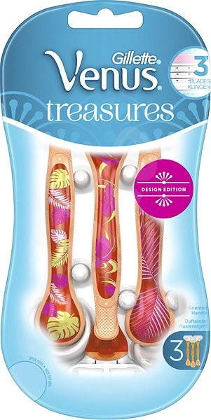 GILLETTE Venus Treasures Design Edition Orange 3 ks - Dámske holiace strojčeky