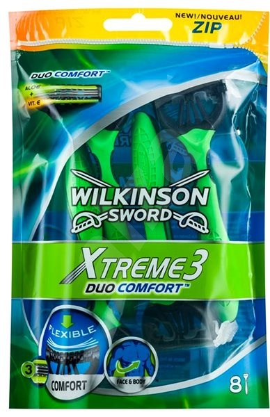 WILKINSON Xtreme 3 Duo Comfort 8 ks - Jednorazové holiace strojčeky