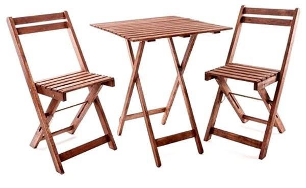 31f96cb9f7b9e Happy Green Balkónový drevený set Acacia 3-dielny - Záhradný nábytok ...