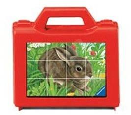 Ravensburger Wood Cubes - domáce zvieratá - Obrázkové kocky
