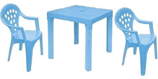 8eb3fc120b3b Sada plastových stoličiek a stolčeku - modrá - Detský nábytok