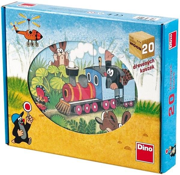 Dino drevené kocky kubus – Krtko a dopravné prostriedky - Obrázkové kocky