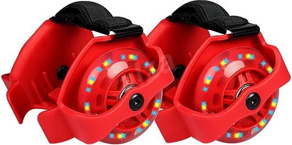 a9cede343862b Blikajúce jazdiace kolieska na topánky červená - Hra na záhradu ...