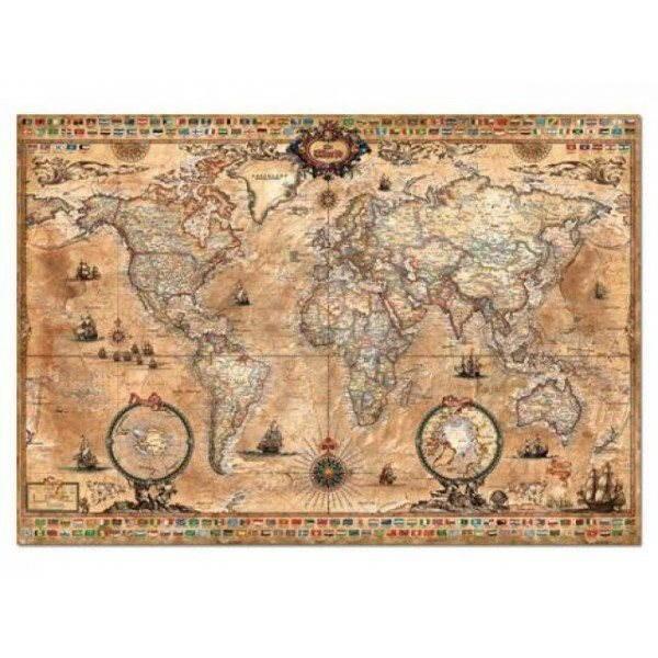 Mapa sveta Antique 1000 dielikov - Puzzle
