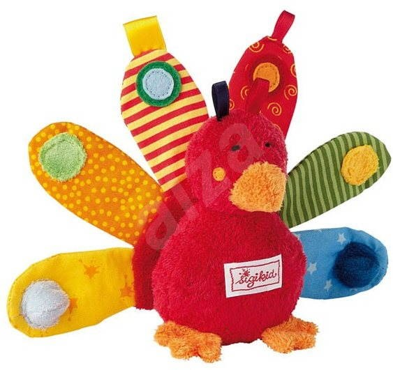 4f7833a1a1a1e Play Q Baby - Měkký aktivní páv - Plyšová hračka | Alza.sk