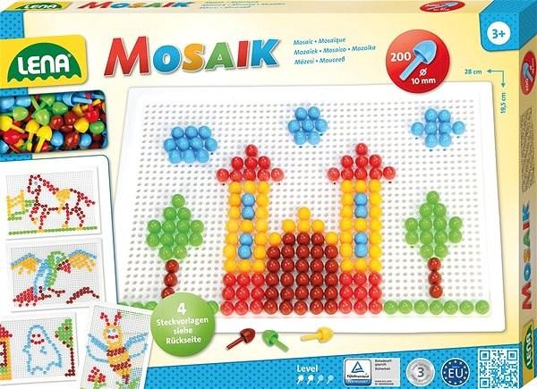 Mozaika veľká, klobúčik 10 mm hladký - Kreatívna hračka