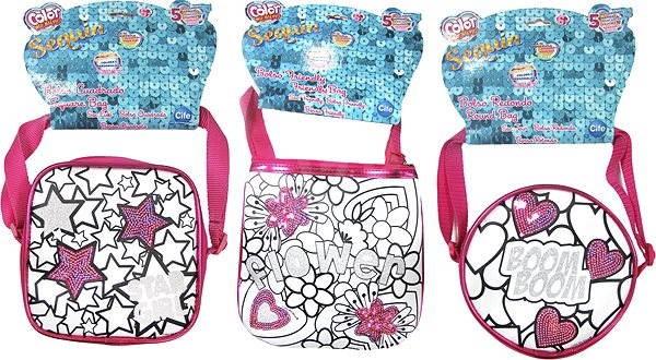 Color Me Mine malá Sequin kabelka - Kabelka