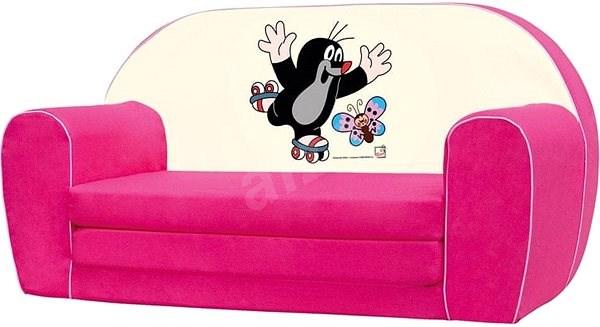 e44e3e0db50d Bino Mini-pohovka ružová – Krtko - Detský nábytok