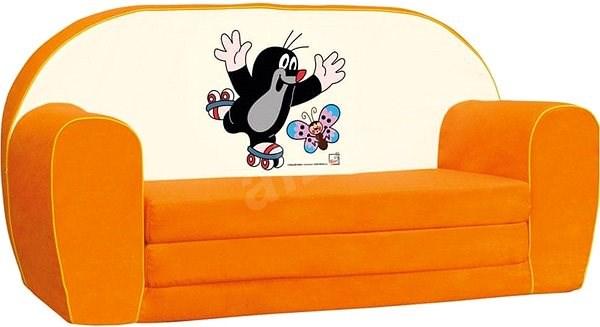 bab0f11c6be5 Bino Mini-pohovka oranžová – Krtko - Detský nábytok