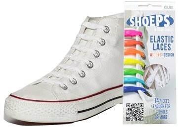 Shoeps – Silikónové šnúrky biele - Sada šnúrok