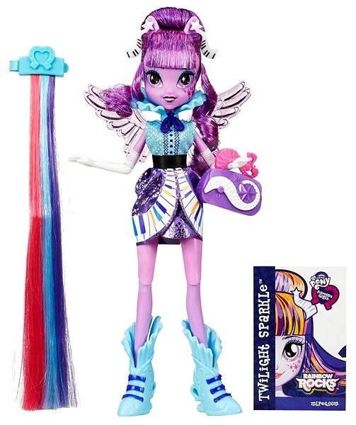 My Little Pony Equestrii Girls - Twilight Sparkle s vlasovými doplnkami - Bábika