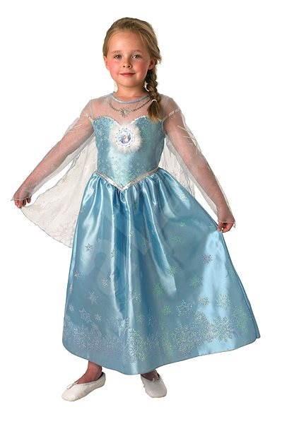 Šaty na karneval Ľadové kráľovstvo – Elsa Deluxe veľ. L - Detský kostým 479ddf3f2e5