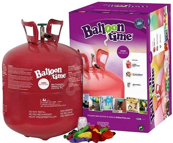 Hélium Balloon Time + 50 balónikov - Herná sada
