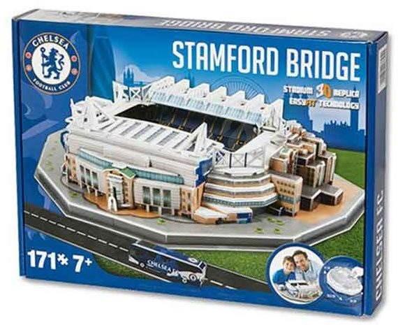 3D Puzzle Nanostad UK – Stamford Bridge futbalový štadión Chelsea - Puzzle