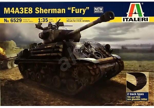 """Italeri Model Kit 6529 tank – M4A3E8 Sherman """"Fury"""" - Plastikový model"""