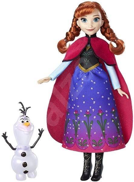 c20e1e607 Frozen Bábika Anna s trblietavými šatami a kamarátom - Herný set ...