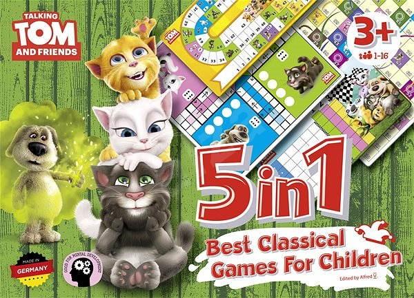 Talking Tom a priatelia – 5 v 1: Najlepšie klasické hry pre deti - Spoločenská hra