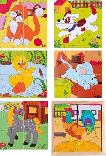 Woody Kubus 2×2 Statok - Obrázkové kocky