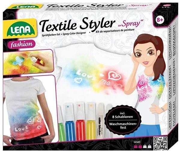 Lena Sprej na textil - šablóny - Kreatívna súprava  dcac3f015c3