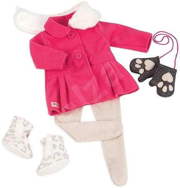 Our Generation Snehová kráska – ružový kabátik s kožušinovým golierom - Doplnok pre bábiky