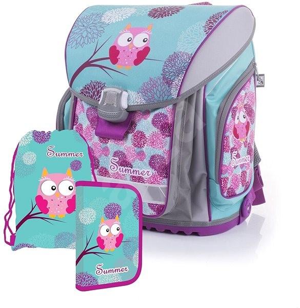 Karton P + P Flexi Sova (ruksak + peračník + sáčok) - Školská súprava