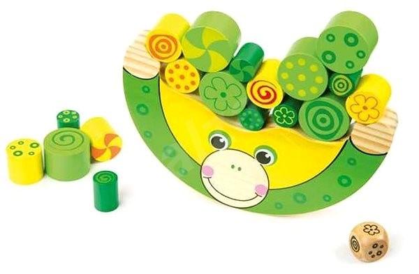 Small foot Drevená motorická hra Balancujúca žaba - Hra