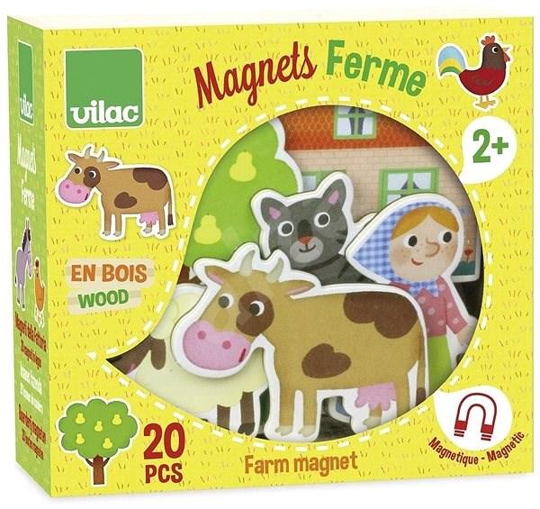 Vilac Drevené magnetky Farma 20ks - Herný set  51beac1e8b9