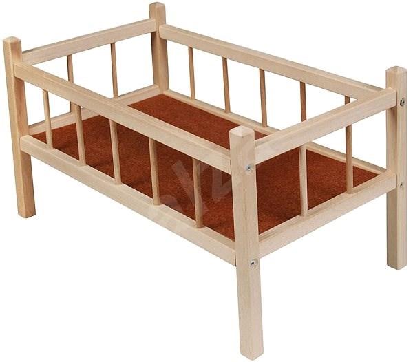 Drevená postieľka - Nábytok pre bábiky