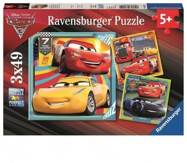 Ravensburger 80151 Disney Autá 3 I - Puzzle