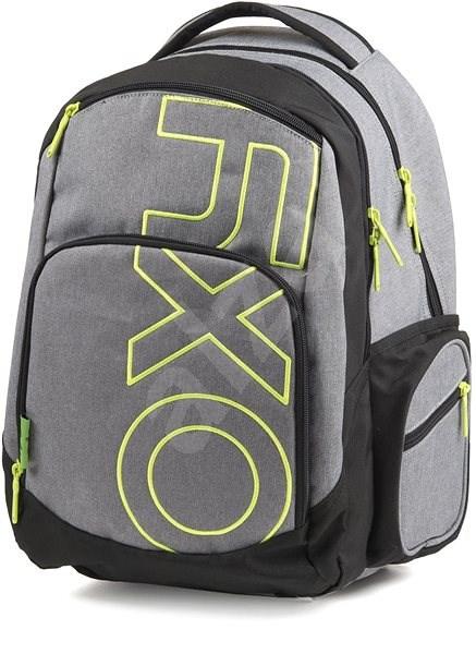 OXY Style GREY LINE Green - Školský batoh  345ab9756e