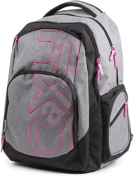 OXY Style GREY LINE Pink - Školský batoh  30fc7f8d94