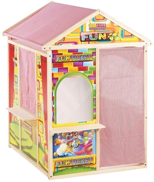 e9919abfa23d8 LetsPlay Hrací domček, drevený, 120 × 90 × 84 cm - Hra na záhradu ...
